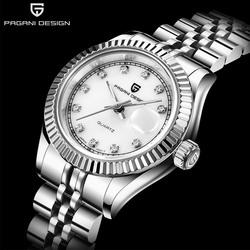 PAGANI DESIGN  sapphire Top Brand Luxury Women Wrist Watches stainless steel Quartz Clock Modern Wristwatch Women