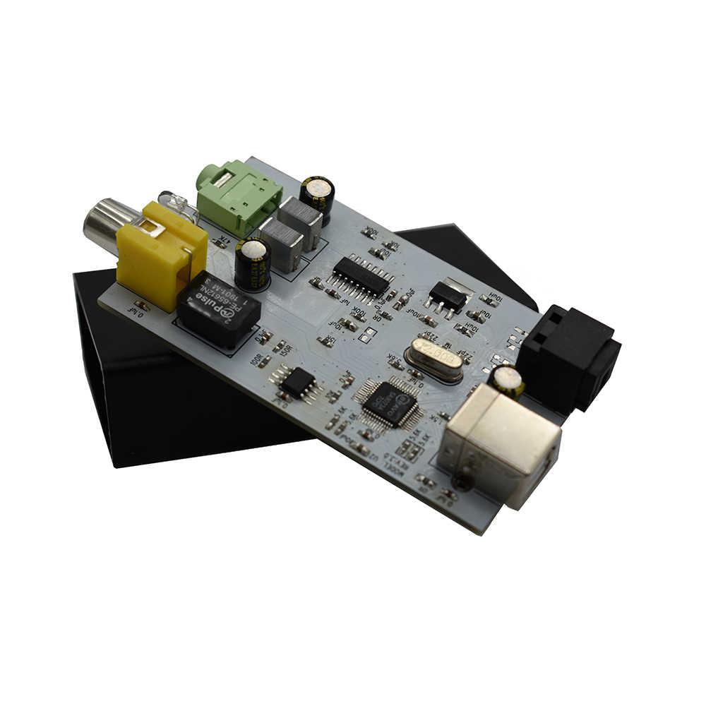 Lusya ESS9023 USB DAC Decoder OTG Audio Eksternal Kartu Amp USB untuk Serat Optik Coaxial 24BIT-96K G5-006