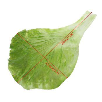 N80B sztuczne liście sałaty warzywnej symulacja fałszywe realistyczne dla dekoracji festiwalu kuchni domowej tanie i dobre opinie CN (pochodzenie) 1 pc app 19 5x13cm 7 68x5 12in