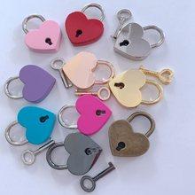 Candados con forma de corazón, Mini candados de estilo antiguo Vintage con cerradura de llave para viaje, caja de joyería de boda, diario, Maleta, libro