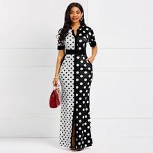 Sisjuly Vintage Bodycon Dress Women Long Black White Polka Dot Bandage Split Skinny Office Lady Elegant Party Sexy Maxi Dresses цена и фото