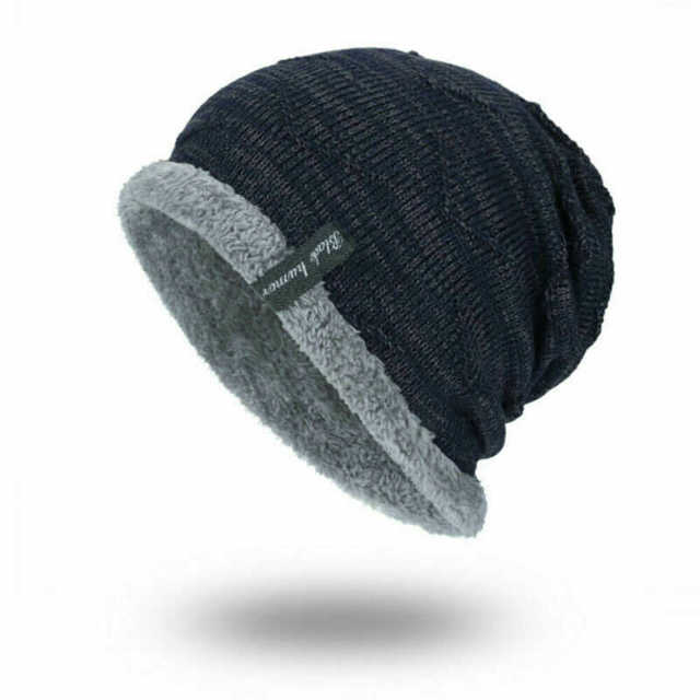 better performance sportswear detailed look Work Winter Toboggan Hat Striped Slouchy Ribbed Warm Cap Soft ...