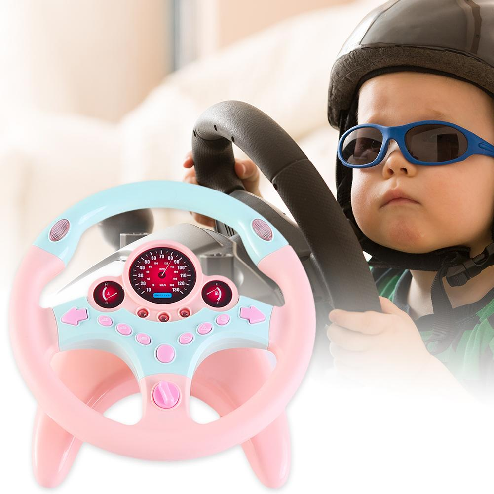 Plastic Musical Simulation Steering Wheel Children Educational Simulated Sound Effects Driver Beginner Toy Birthday Gift