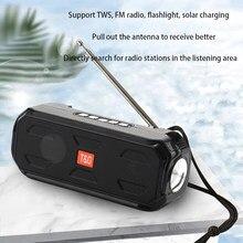 Haut-parleur Bluetooth Portable sans fil, boîte de musique, basse stéréo, TWS, Support de haut-parleur d'extérieur, Radio TF/FM/USB/AUX avec lampe de poche