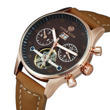 السيدات الساعات 2020 عادية التلقائي ساعة معصم الميكانيكية للنساء جديد توربيون ساعة هدية حزام من الجلد التقويم relogio
