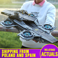 DHL 07043 Super Heroes Toys compatible with 76042 SHIELD Helicarrier Model Building Kits Blocks Bricks New Kids Toys brinquedos
