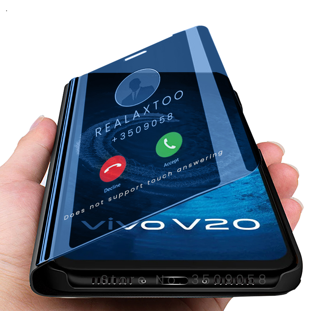 Умный зеркальный Чехол-книжка для телефона vivo v20 vivo v20 v 20 pro se 20pro 20se v20se v20pro 6,44''