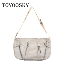 TOYOOSKY Brand Original Design Women's Bag 2020 New Joker Messenger Bag Fashion Armpit Bag Black Flap Bag