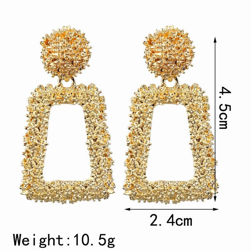 Big Drop Earrings for Women Geometric Statement Earrings female 2020 Fashion Modern Jewelry hanging kolczyki oorbellen 5