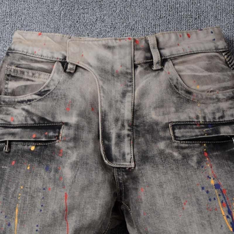 2020 neue Mode Frühling Voller Länge Dünne Jeans Für Herren Jean Für Männer Klassische Motor männer Streetwear Farbe Hosen plus Größe