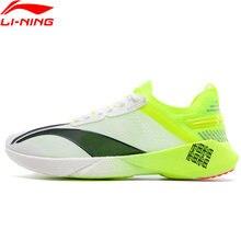 Li-ning homem boom maratona sapatos de corrida s tênis almofada forro anti-derrapante li ning tênis esporte sapatos axl005