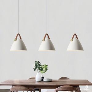Image 3 - Modern Leather Hanging Lights Norlux Fancy Europe Pendant Lamp LED Aluminum Fixture Home Decoration Dinning Table Bar Bedroom