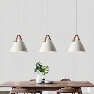 Image 3 - Moderne Leder Hängenden Lichter Norlux Phantasie Europa Anhänger Lampe LED Aluminium Leuchte Hause Dekoration Esstisch Bar Schlafzimmer