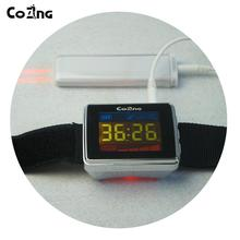 Low Level Laser Therapy 650nm Wrist watch Semiconductor Diabetes High Blood Pressure Laser Therapy Apparatus все цены