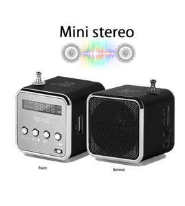 Mini Radio TD-V26 Digital Portable Fm Radio Speaker Support SD/TF Card MP3 Music Player For Mobile Phone Pc Laptop
