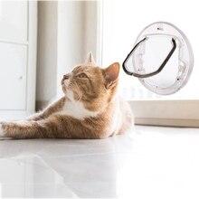 4 замка Запираемая дверь для собаки, кошки, котенка, защитная дверь из АБС-пластика S/M/L, для животных, маленьких домашних животных, кошек, собак, ворот, товары для домашних животных