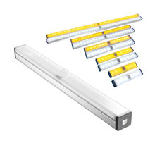 LED Closet Light USB Rechargeable Under Cabinet Lightening Stick-on Motion Sensor Wardrobe Light with Magnetic Strip