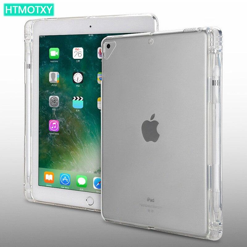 Чехол HTMOTXY для iPad Air 2, чехол с держателем для карандашей, Чехол для iPad Air 2 4 Pro 11 2020 9,7 10,5 Mini 12345 2017/2018/2019/2020