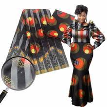 Красивая светильник я атласная шелковая ткань с узором Африканский