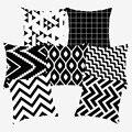 Черно-белая Подушка Декоративные геометрические наволочки для дивана полиэстер 45*45 наволочки 10040