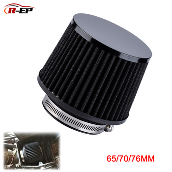 R-EP Universal Car Air Intake Filter 76MM 70mm 65mm Performance High Flow Filters for Cold Air Intake 3inch 2.75inch 2.5inch universal car air filter 76mm 3in cone shaped high flow cold air intake mesh filter black mushroom head motorbike cleaner new