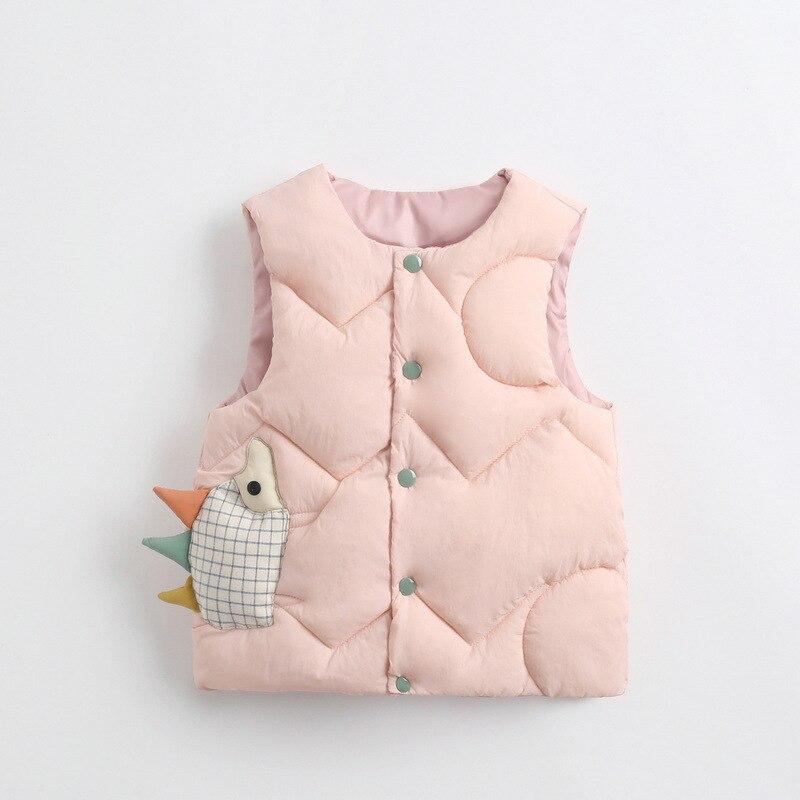 2020 Autumn Girls Warm Vest Fashion Baby Boys Thicken Waistcoat Kids Outerwear Vest Children Cartoon Down Cotton Jackets Vest 5