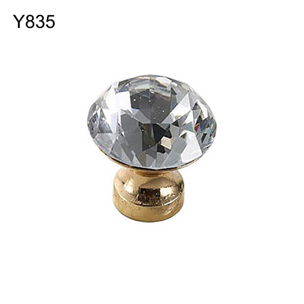 Европейский стиль металлический шкафчик с ящиками шкаф дверная ручка Алмазная форма кристальная стеклянная ручка оборудование для обработки мебели домашний декор - Цвет: Y835
