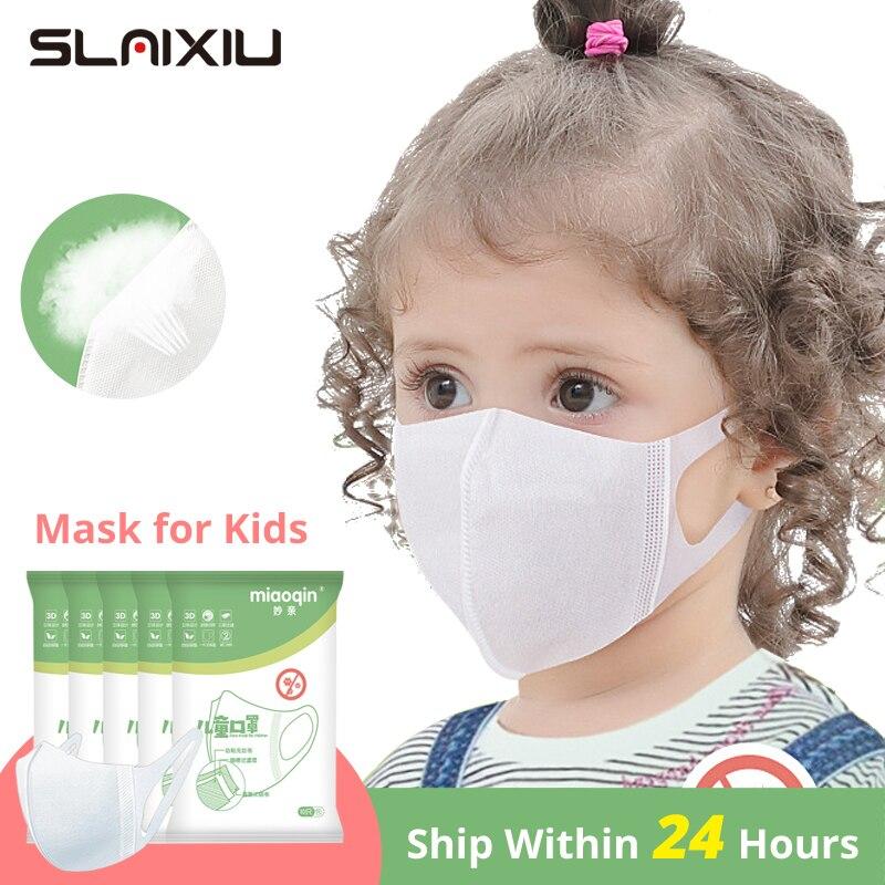 Masks For Children Face 3 Layer Elastic Mouth Kids Mask Disposable Mask Soft Breathable PM2.5 Nonwoven Boy Mask Girl Mask