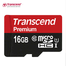 Transcend Premium Memory Card 16GB Class10 U1 MicroSDHC Card Read Up To 90MB/S UHS 1 TF Card 16GB for samrtphone and table PC