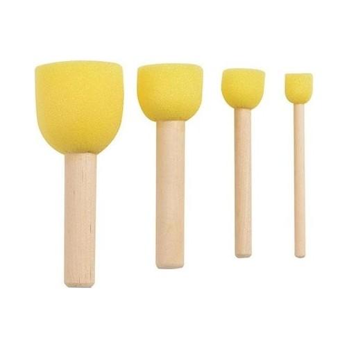 Sponge Buffer Brush Set 4'lü (Pompon Brush)