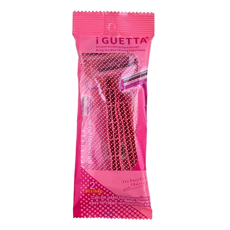 станок для бритья rzr iguetta gf2-1707, 2 шт розовый