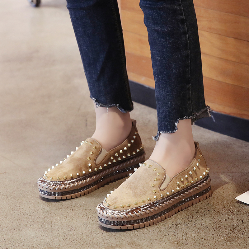2019 Winter New Women Fur Loafers Comfortable Casual Platform Sneakers 55
