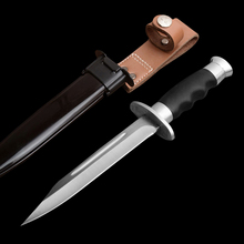 DuoClang Survival Utility 7Cr17Mov Steel Fixed Blade Knife ABS Engineering Plast