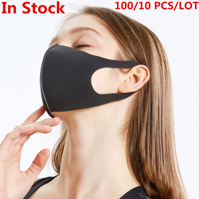 100 Pcs Face Mouth Filter Mask Anti Dust Mask Filter Windproof Mouth-muffle Bacteria Proof Flu Face Masks Care Reusable Washable
