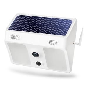 MOOL 1080P Wide-Angle Solar Battery Ip66 Outdoor WiFi IP Camera Wall Light Surveillance Camera for Garden Patio Yard Courtyard P