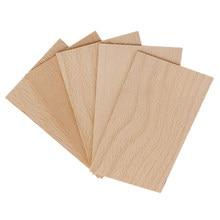 Pièces découpées rectangulaires en bois massif, 2 mm d'épaisseur, non finies pour la fabrication de modèles de Table de sable, décoration de jardin, projets artisanaux de bricolage