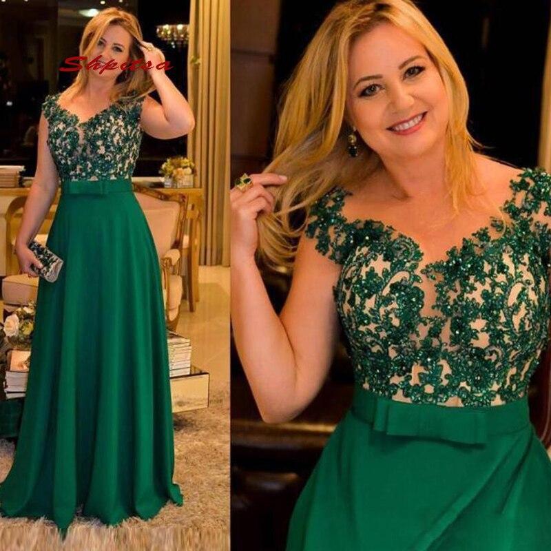 Green Lace Mother Of The Bride Dresses For Weddings Plus Size Elegant Formal Godmother Groom Dinner Dresses
