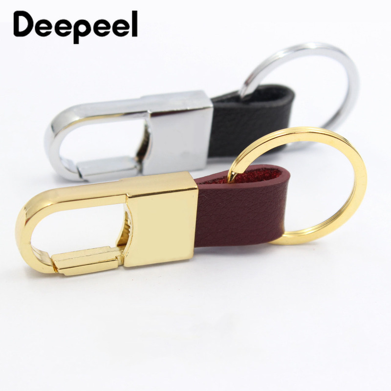 5/10pcs Deepeel 85*20mm Zinc Alloy Leather Hook Buckle Metal Keychain Hige Quality Bag Buckle Pendant Hardware Accessory BF820