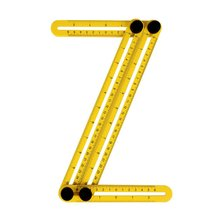 Multifunctional Abs Live Four-Square Ruled Plastic Activity Four-Fold Ruler Measuring Tool Folding Ruler Multi-Angle Ruler multifunction folding ruler plastic activities four folding ruler multi angle ruler aluminum measuring tools