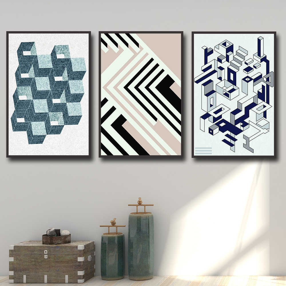 Modern Abstract Picture Wall Art Canvas Painting Nordic Posters And Prints Wall Pictures For Living Room Decor