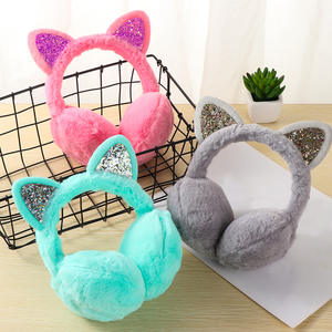 Warmer-Accessories Earmuffs Ear-Cover Rabbit Winter Plush Kids Thicken Fox for Gifts