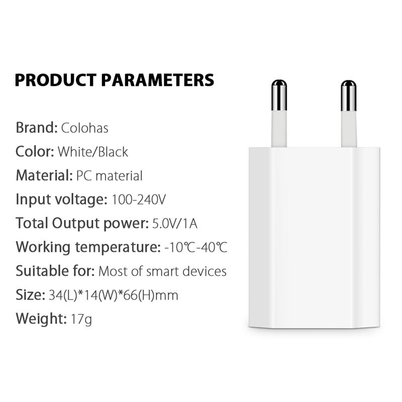 USB зарядное устройство для мобильного телефона зарядное устройство Европейского Универсальное зарядное USB устройство с AC дорожное Сетевое зарядное устройство адаптер питания для Apple iPhone 6 6S 5 5S 4 4S-2