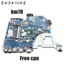 NOKOTION placa base para ordenador portátil Acer aspire V3 571G, NBC1F11001, Q5WVH, E1 571G, SJTNV, HM70, DDR3, CPU gratis