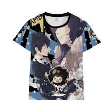Katekyo Hitman Reborn Sawada Tsunayoshi Hibari Kyoya T-shirt Streetwear Ranbo Cosplay Traje Das Mulheres Dos Homens de Manga Curta T