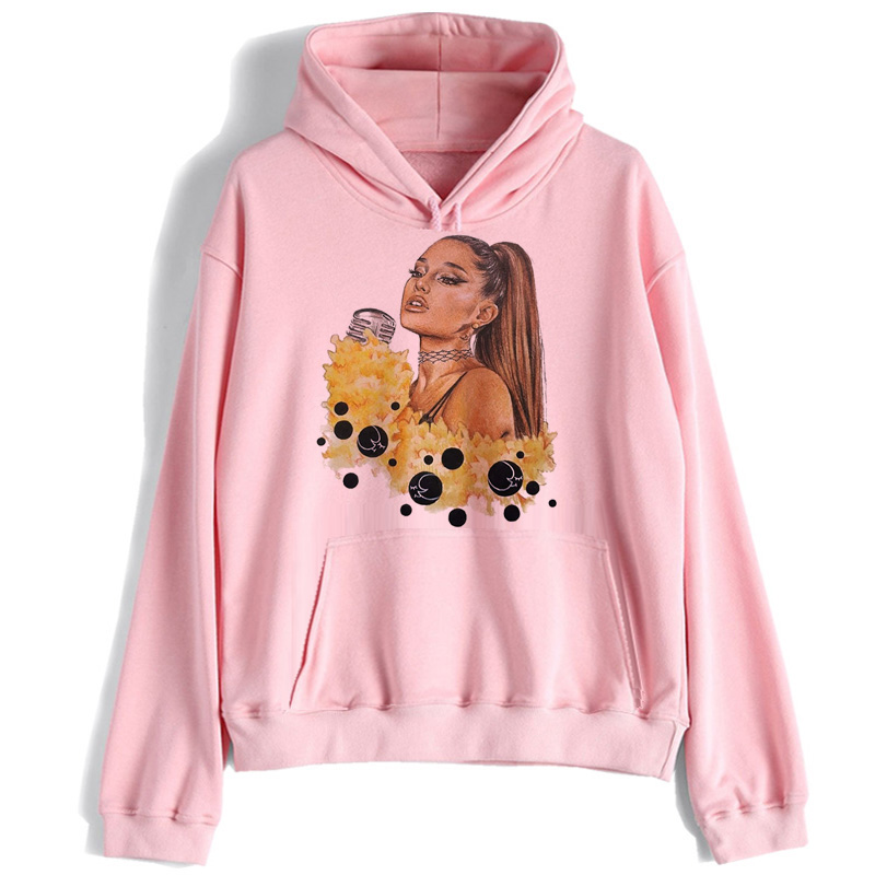 Ariana Grande Sweatshirt Women No Tears Left To Cry Hoodie Print Clothes Pullover Hoodies Female Harajuku Kawaii Streetwear