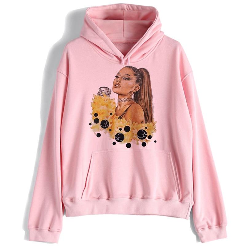 Ariana Grande Sweatshirt Women No Tears Left To Cry Hoodie Print Clothes Pullover Hoodies Female Harajuku Kawaii Streetwear