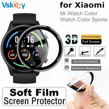 10PCS 3D Curved Edge Soft Screen Protector for Xiaomi Mi Watch Color Sports Version Full Coverage Protective Film (Non Glass)