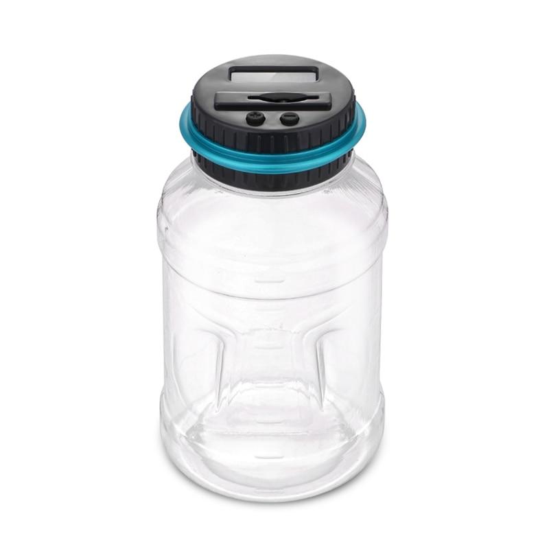2.5L Spaarpot Teller Coin Elektronische Digitale LCD Tellen Munt Geld Saving Box Jar Munten Opbergdoos Voor EURO