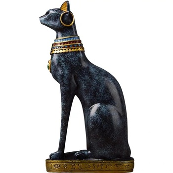 [MGT]Egyptian Lucky Cat Guardian Decoration Nordic Living Room Study Craft Sculpture Sculpture New Home Gift