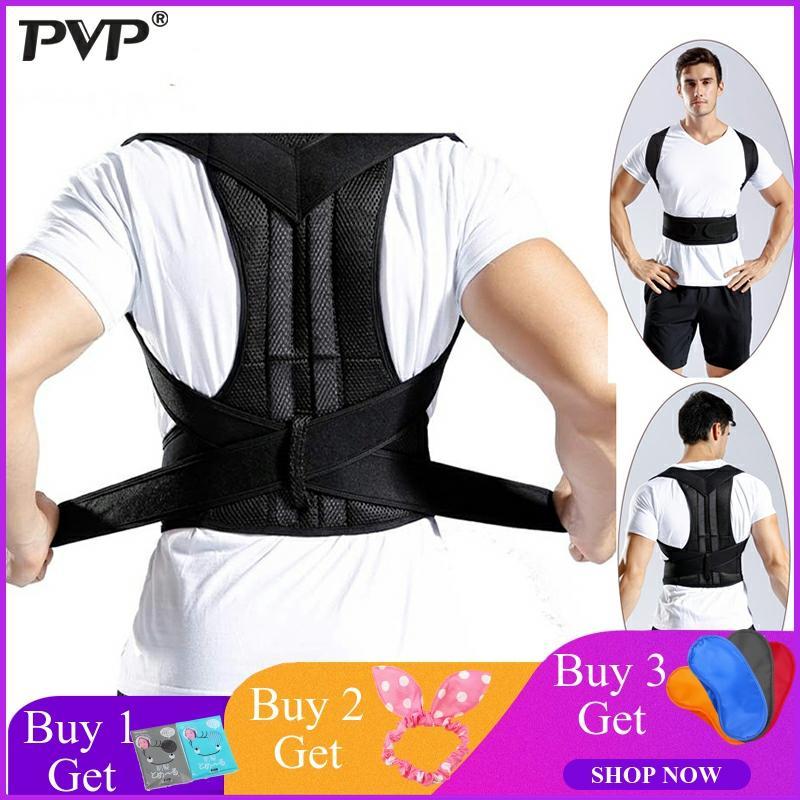 Adjustable Back Posture Corrector Clavicle Spine Back Shoulder Lumbar Brace Support Belt Posture Correction